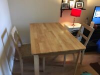 Dining table and 2 chairs for sale in Edinburgh