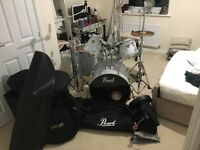 PEARL DRUM KIT - loads of extras ! ALMOST NEW