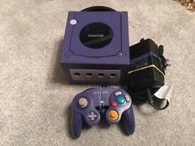 Large retro Nintendo GameCube bundle console and 60 boxed games