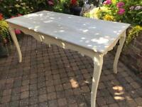 New cream French country style dining table