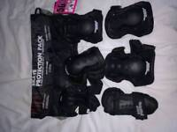 Knee, elbow and wrist skate protection set