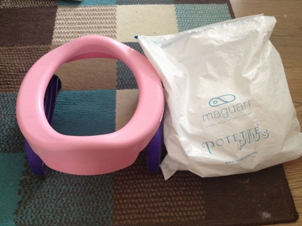 Potette plus 2 in-1 Baby Travel Potty -Pink Purple