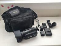 CANON LEGRIA HF G25 Video Camera 10x Optical 40x/200x Digital Zoom + 2 Genuine Batteries