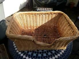 Medium sized pet wicker basket