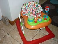 Baby Walker with Activity Playtray Sit in Baby Walker