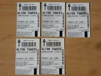 9 x Alton Towers Tickets valid until 21/10/2016