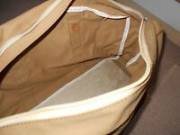 British army canvas and leather holdall