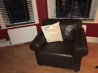 Excellent condition Ikea leather sofa X2 and armchair suite. Previously cherished
