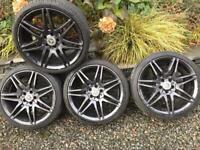 Mercedes Benz C E Class 19 inch alloy wheels & tyres black alloys rims