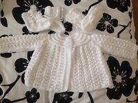 Hand knitted Matinee set