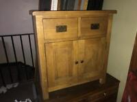 Cotswold Lion Oak Cabinet with Drawers