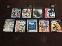 Slim Sony PlayStation 2 with 9 games and wires