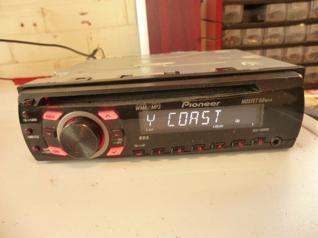 Pioneer Deh 1300mp Rds Cd Tuner Clip Off Front Aux Mp3 Text Car Stereo