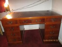 Bankers Desk with leather inlayed locking draws can deliver in hull