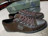 Brown dolce and gabbana smart trainers