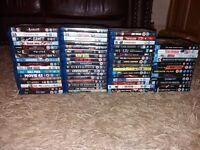 Collection of blue ray films