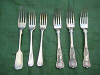 Set of 6 Various Vintage Full Size Fish Forks for £3.00