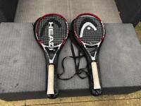 Head Tritech Tennis Rackets x 2