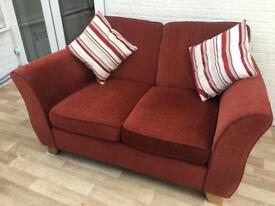 Red Wine Two Seater Sofa
