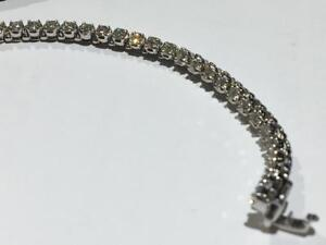#1559 WOW! 14K WHITE GOLD 2.20CT VS DIAMOND TENNIS BRACELET 7 INCHES IN LENGTH. APPRAISED AT $7550.00 SELL FOR $2495.00!