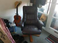 Swivel/ recliner/ and footstool