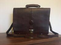 lather bag/satchel, office briefcase, laptop bag