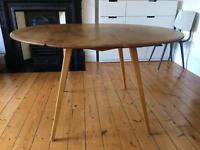 Ercol vintage drop leaf dining table round/oval