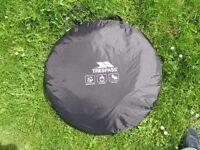 TRESPASS POP UP TENT 2 MAN Canopy Shelter Hiking Family BLACK/GREY