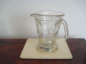 Vintage glass water jug or drinks jug