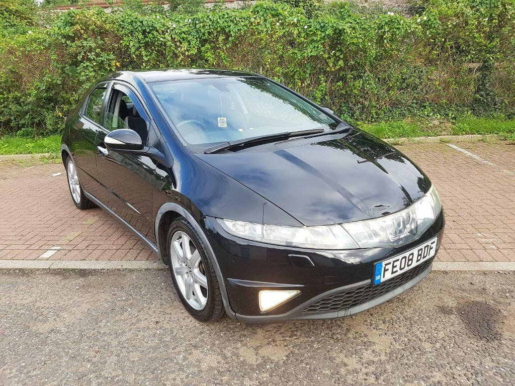 Honda civic 1 8 i vtec ex 5dr black 2008