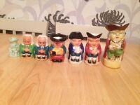 7 vintage Toby jugs