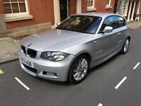 BMW 116D, 3 Door, Silver, 1 Series, Low Miles, Stop/Start, Manual, Immaculate Condition.