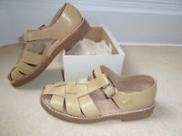 MEN'S SMART CREAM LEATHER SANDALS SCARCELY WORN