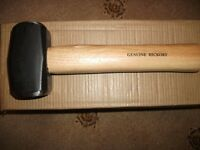 CLUB MALLET GENUINE HICKORY WOODEN HANDLE 2.5 LB BRAND NEW
