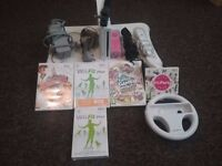 Nintendo Wii Console, Wii Fit Plus bundle with 4 games and 3 controllers. FULLY WORKING CONSOLE.