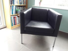 Gorgeous retro style black leather armchair LOW PRICE FOR QUICK SALE