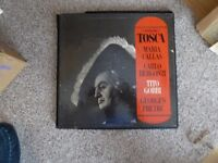 Boxed set long play records of Tosca with the great Maria Callas in the leading role