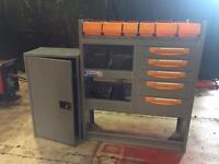 Van tool box racking storage