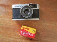 Beautiful old analog camera, olimpus trip 35