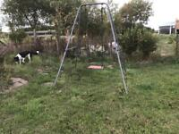 Free trampoline and single swing