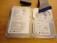 2 seagate 160gb hard drive pata connection