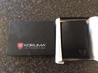 New and unused Koruma ID protection black leather wallet