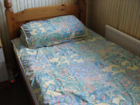 Wooden Frame Single Bed with Mattress