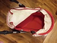 Girls red pram age 3-6