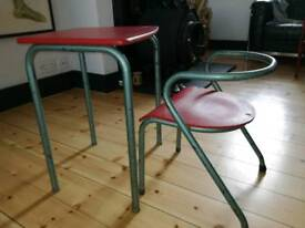 Children's French desk and chair