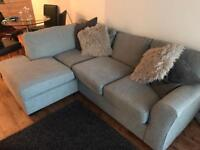 Next grey sofa CAN DELIVER