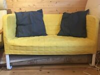 Yellow sofa (IKEA) with cushions included