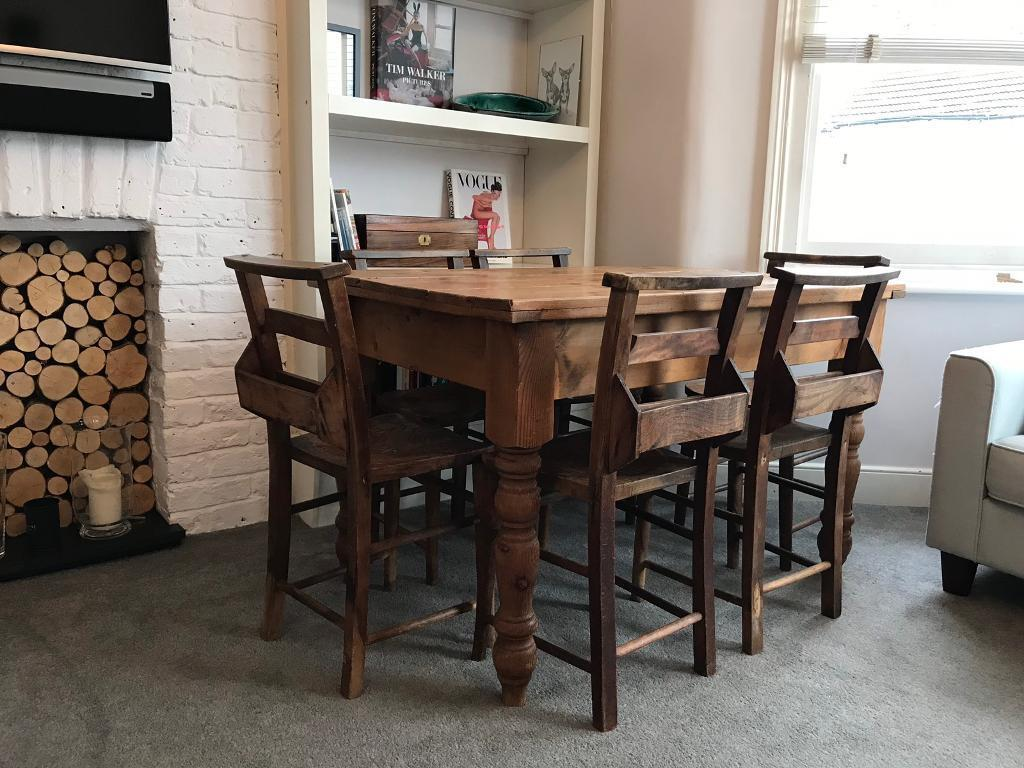 Antique Church Chairs / Dining table - Antique Church Chairs / Dining Table In Leigh-on-Sea, Essex Gumtree