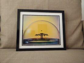 Water drop print in frame 33x28cm