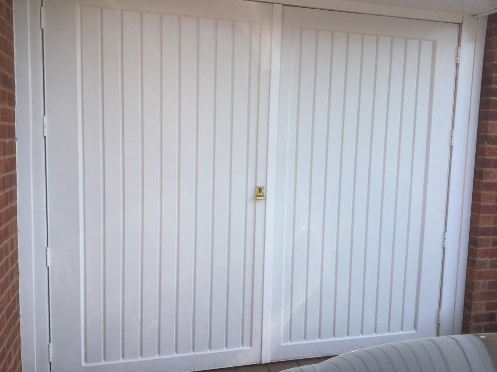 Garage Doors Or Could Be Used As Gates Side Opening White